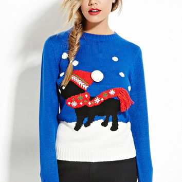 Snow Dog Graphic Sweater - Shop All - 2000147309 - Forever 21 EU English