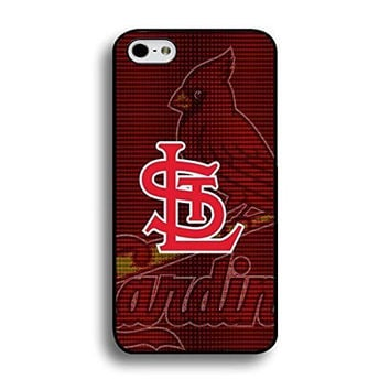 Style108 Artistical Theme St. Louis Cardinals Graphic Baseball Team Symbol Anti Scratch Case Cover for Iphone 6 Plus / 5.5 Inch