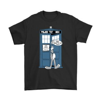 PEAP3CR Police Public Call Box Bugs Bunny Doctor Who Mashup Shirts