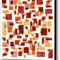 Red Abstract Rectangles Canvas Print / Canvas Art By Frank Tschakert