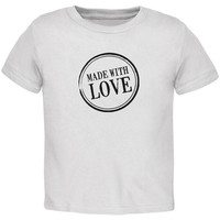 Valentine's Day - Made With Love Black Toddler T-Shirt