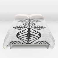 Graphic Turtle Duvet Cover by RunnyCustard Illustration
