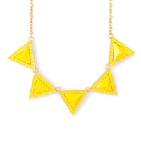 Dotted Triangles Statement Necklace