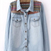 Tribe Blue Denim Shirt from Bblythe