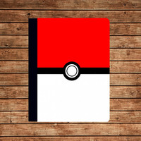 iPad 2 case,iPad leather case,iPad 3 cover,iPad case--Cute Pokemon Pokeball,in leather case