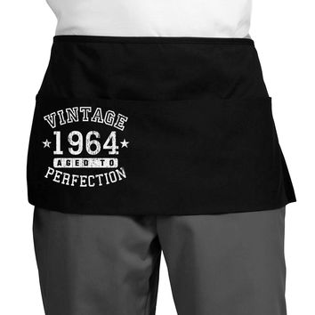 Vintage Birth Year 1964 Dark Adult Mini Waist Apron