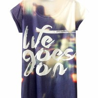 2014 Vintage Spring Summer Digital Printing Women's Short Sleeve T-shirt