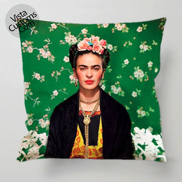 Frida Kahlo pillow case, cover ( 1 or 2 Side Print With Size 16, 18, 20, 26, 30, 36 inch )
