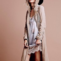 Free People Womens Velvet Duster