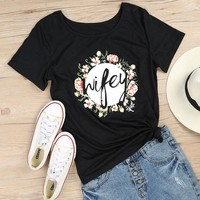 Wifey Floral Tee