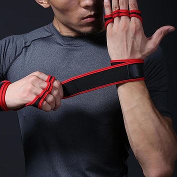Weight Lifting Training Gloves Women Men Fitness Sports Body Building Gymnastics Grips Gym Hand Palm Bracer Protector Gloves
