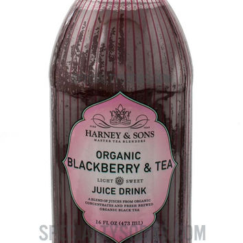 Harney & Sons Organic Blackberry & Tea Juice Drink 16oz Glass Bottle
