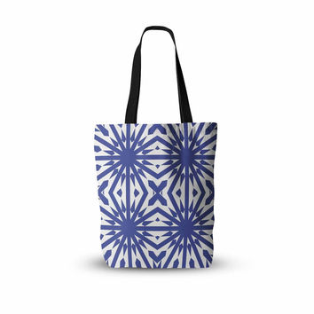 "Miranda Mol ""Delftsch Blue Tulips"" Floral Blue Everything Tote Bag"
