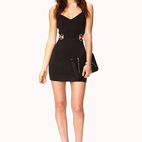 Posh Caged Bodycon Dress