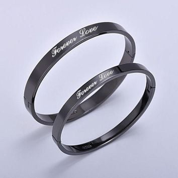 ca DCCKTM4 Jewelry Shiny New Arrival Stylish Titanium Black Ring Bangle [10985364551]