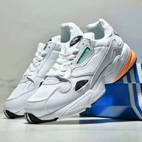 Adidas Falcon W autumn and winter new retro women's old shoes casual shoes White