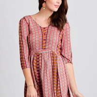 Western Belle Printed Dress