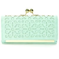 Shopping District Mint Green Clutch