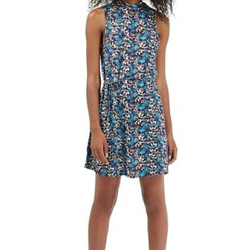 Women's Topshop Floral Print Tunic Dress,