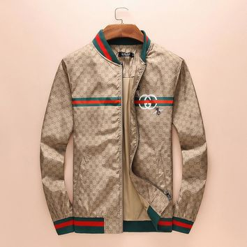 GUCCI Long Sleeve Zipper Cardigan Jacket Coat I-A00FS-GJ