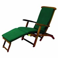 """Bosmere C567 Lounge Chair Cover 59"""" Long x 24"""" Wide x 36"""" High at Back, Green"""