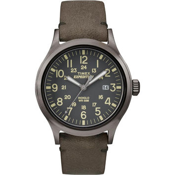 Timex Expedition Scout Metal - Brown Leather-Gray Dial