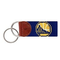 Golden State Warriors Needlepoint Key Fob in Dark Royal Blue by Smathers & Branson