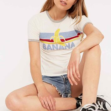 Truly Madly Deeply Bananas Retro Ringer Tee - Urban Outfitters