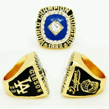 2015  Arrival Fashion Sport Jewelry 1988 LA Dodgers World Series Championship Ring, Custom Cham