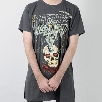 NEW 2016 Kanye west Yeezus Tour yeezy Merch Death God Skull logo Sickle And roses dar