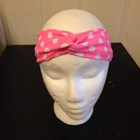 Polka Dot Turban Headband/Knot Headband/Twist Headband from Nicole Ray