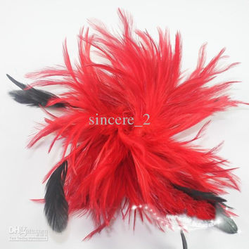 """6"""" Natural feather corsage, large feather flower feather hair hair bride feathers adorn 50PCS EMS"""