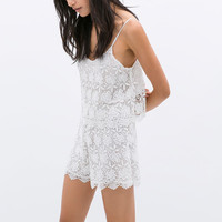 GUIPURE SLEEVELESS PLAYSUIT