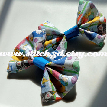 ADVENTURE TIME Jake and Finn Hair Bow or bow tie