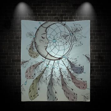 Reiki Charged Moon Dream Catcher Tapestry Wall Hanging Meditation Yoga Grunge Hippie