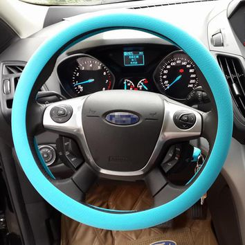 STYLEDOME Silicone Steering Wheel Cover Natural Elastic Flexible for All Types Assorted Colours