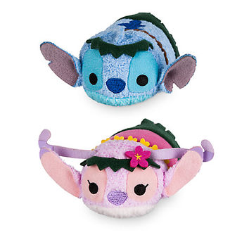 Stitch and Angel ''Tsum Tsum'' Plush Hawaiian Set - Mini 3 1/2'' | Disney Store