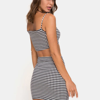 Kimmy Skirt in Dogtooth by Motel