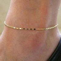 Gold Silver Chain Anklet