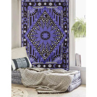 Purple Sun Wall Hanging Tapestry Bohemian Throw Blanket Bedspread Dorm Cover Mat Home Room Wall Decoration 210X145cm
