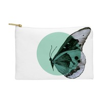 Morgan Kendall turquiose butterfly Pouch