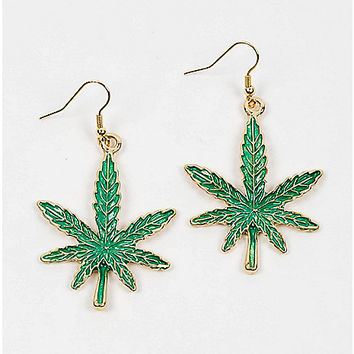Leaf Dangle Earrings - Spencer's
