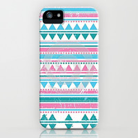 Pink & Blue Tribal iPhone & iPod Case by PinkBerryPatterns