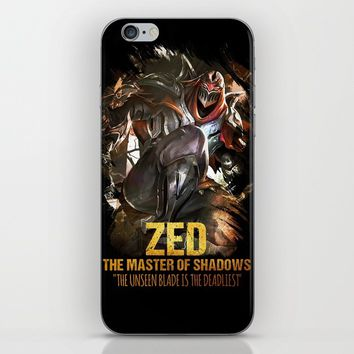 League of Legends ZED - The Master Of Shadows - Video games Champion iPhone Skin by naumovski