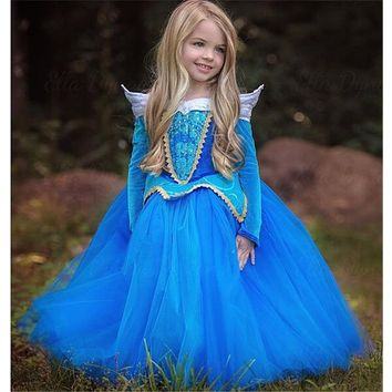 Little Princess Girl cartoon Dress Halloween Tulle Prom Gown Costume For Kids Children Clothing Girl Fancy Dress Ball Party Wear