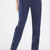Brown/Dark Blue BCBG Women's Troy Relaxed Moto Pant