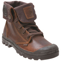 Palladium Baggy Leather Sunrise Chocolate Brown Sneaker