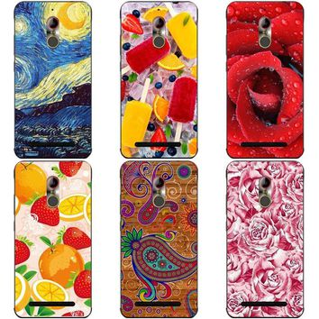 Luxury Printing Case For ZTE Nubia N1 N 1 Lite Art Printed Flower Phone Cover For ZTE Nubia N2 N 2 Rose Funda Cute Animal Coque
