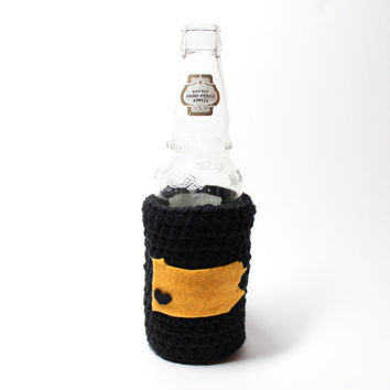 Beer Koozie, Crochet Pennsylvania State Accessories, Can Cozy, Coffee Cozy, Pittsburgh Sports Inspired Bottle Koozie, Drink Holder