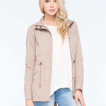 FULL TILT Hooded Twill Womens Anorak Jacket | Jackets